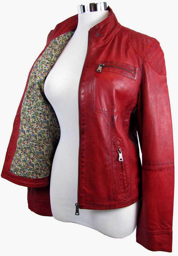die besten 25 rote lederjacke damen ideen auf pinterest damen mantel rot biker lederjacke. Black Bedroom Furniture Sets. Home Design Ideas