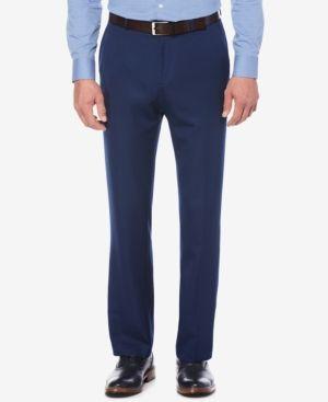 Perry Ellis Portfolio Straight-Fit Performance Stretch Dress Pants - Blue 38x29