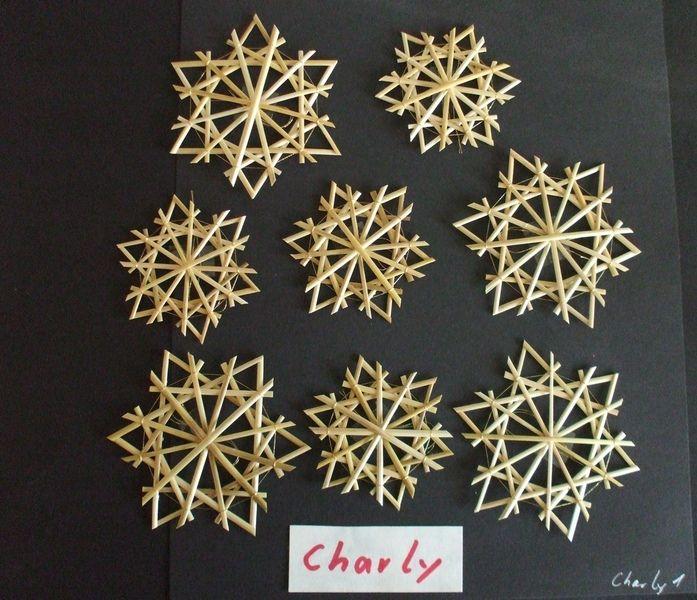 Baumschmuck: Stroh - Strohsterne - Set Charly - ein Designerstück von Strohsterne-rs bei DaWanda