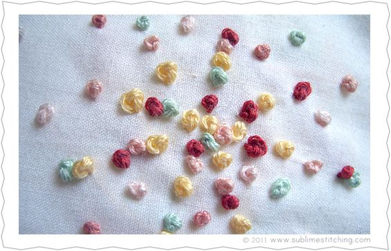 Sublime Stitching.How to French knots! French knots! French knots!