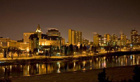 Saskatoon night skyline....beautiful.