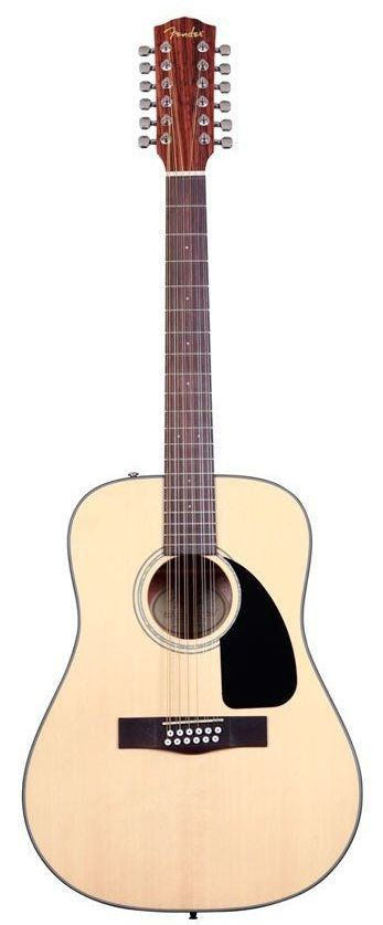 The CD-100 12-String dreadnought delivers lush, resonant Fender 12-string sound and value, with a natural-finish laminated spruce top and laminated mahogany back and sides. Upgrades include a new blac