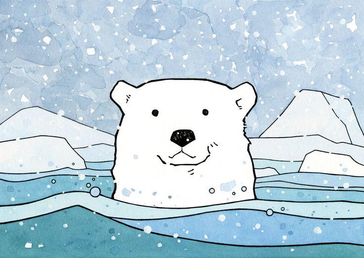 Polar Bear Drawing - studio tuesday