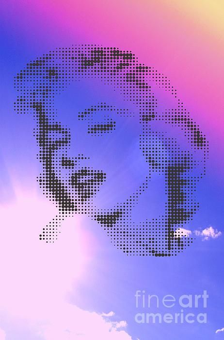 MARILYN ON SKY COLOURED