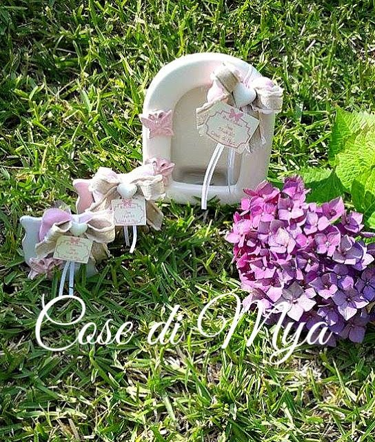 Cornici in ceramica per il Battesimo di Irene