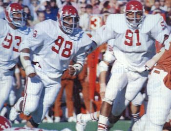 In 1975, all four Oklahoma Sooners defensive lineman were on the All-American team; Jimbo Elrod, Dewey and Lee Roy Selmon and James White.  Crazy good defense in the mid 1970's.