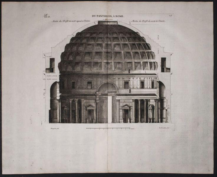 Desgodetz Pantheon. 27 1682 Antiques de Rome FOLIO