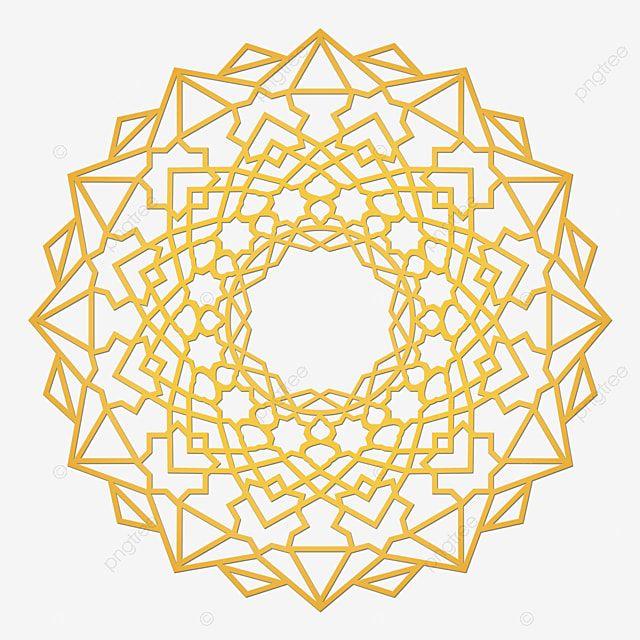 Islamic Ornamental Ornamental Mandala Golden Islam Mubarak Ramadan Png Transparent Clipart Image And Psd File For Free Download In 2021 Mandala Geometry Pattern Mandala Pattern