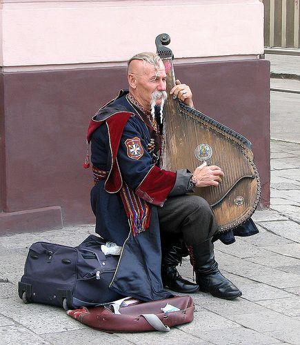 cossack musician in Lviv, Ukraine