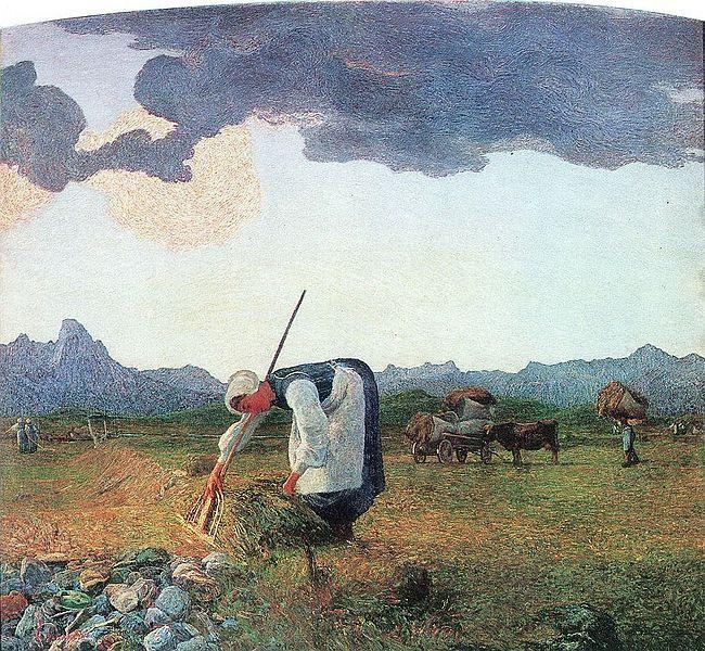 Giovanni Segantini, Hay Harvest