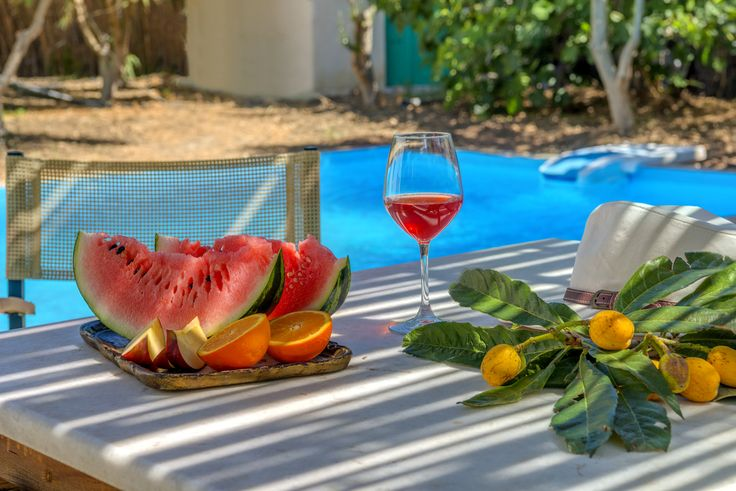 Villas for rent - Naxos island of Greece - amazing places - private swimming pool - relaxing holiday houses - island life - traditional hospitality - watermelon -oranges -  local wine - organic products