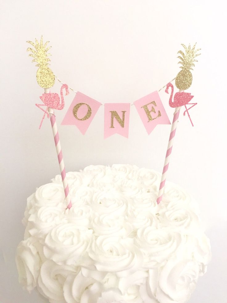 Flamingo First Birthday Cake Topper~Let's Flamingle Cake Topper~Pink and Gold First Birthday~Flamingo Cake Topper~Flamingo Party Decorations by SweetEscapesbyDebbie on Etsy https://www.etsy.com/listing/271078394/flamingo-first-birthday-cake-topperlets