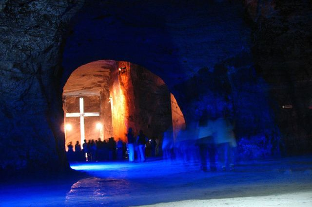Salt Cathedral of Zipaquira, Colombia. It truly is an amazing place to be in