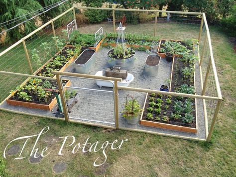 The Potager fenced vegetable garden with raised beds