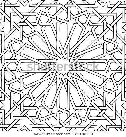 vector - arabic ceramic tile - stock vector                                                                                                                                                                                 Plus