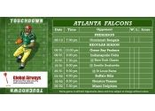3x6 in One Team Atlanta Falcons Football Schedule