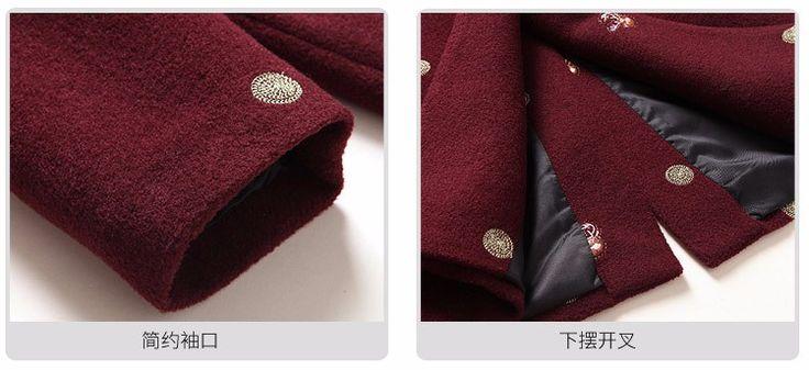 элементы вышивки на пальто