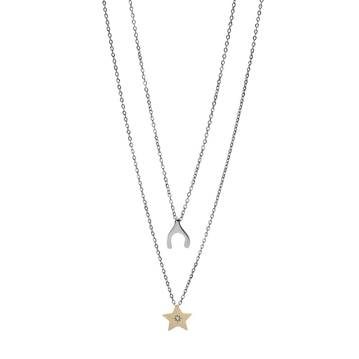 FOSSIL® Jewelry Necklaces:Women Wish Upon A Star Friendship Necklace