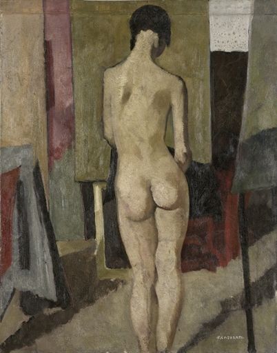 Felice Casorati, Nudo di schiena