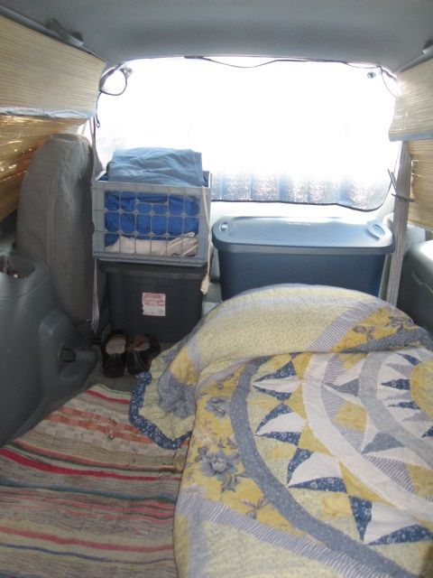Minivan stealth camping for the first time in a hospital ...