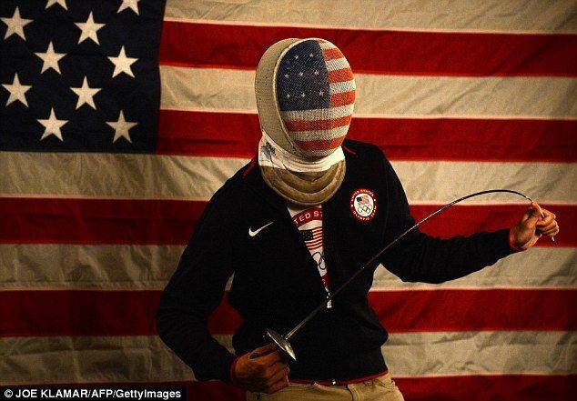 Alexander Massialas of the US Olympic Fencing team. Photo by Joe Klamar, AFP