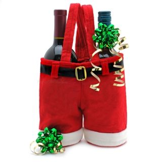 Santa Pants Wine Bottle Holders