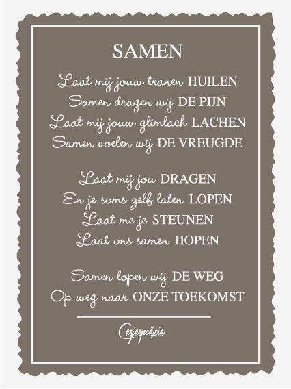 Mijn gedicht Samen. De opmaak is gedaan door mijn tante. :)