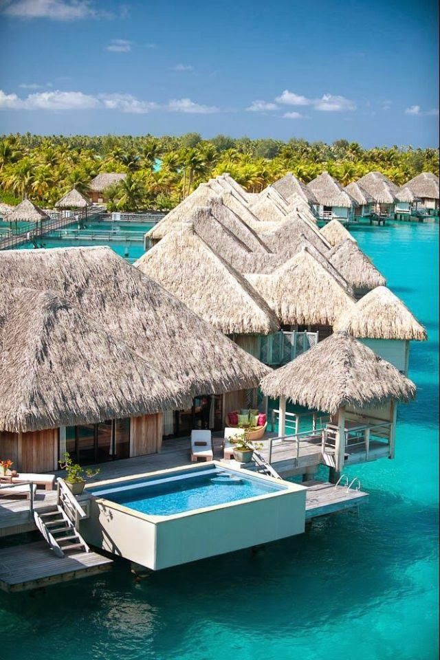 Aquatic rooms are water villas in the Maldives.