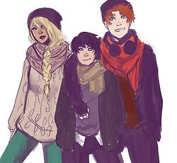 Artemis Crook, Dick Grayson and Wally West. Young Justice.