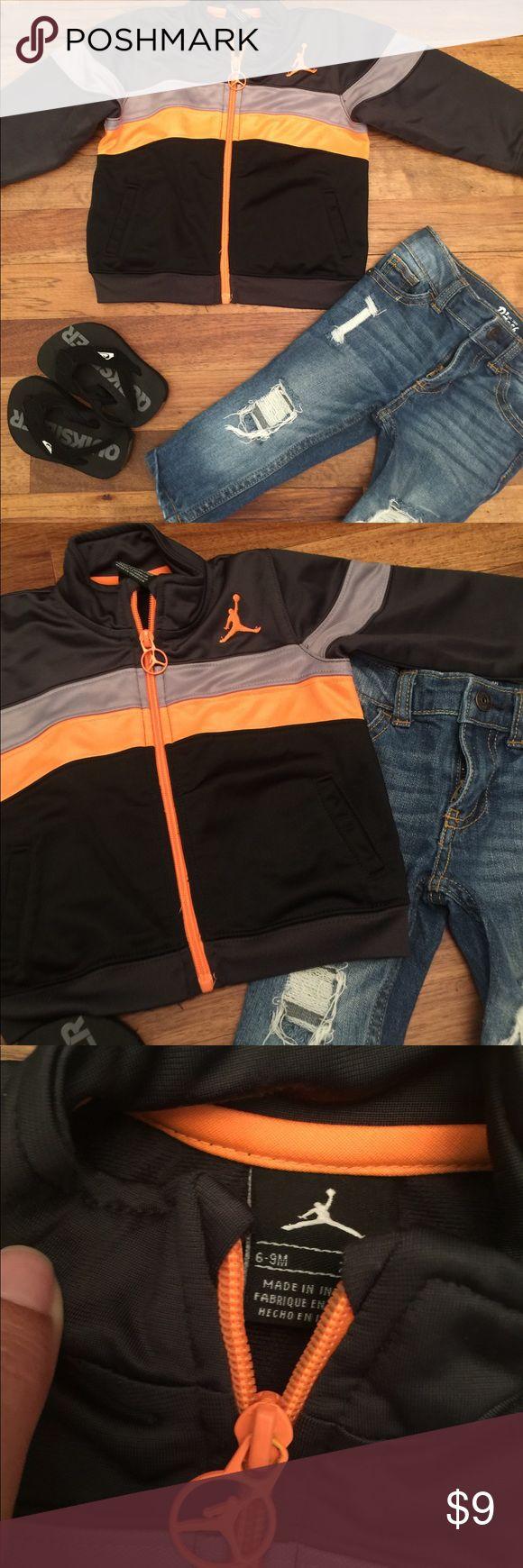 Black orange and grey Jordan jacket Very nice condition, jacket for baby. Jordan Jackets & Coats