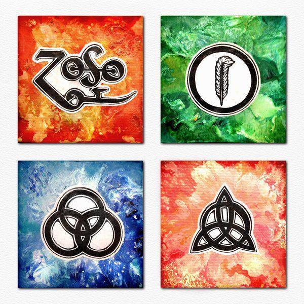 Beautiful Led Zeppelin symbol art