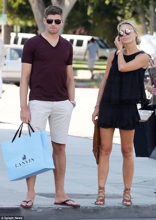 Alex and Steven Gerrard hit up Rodeo Drive for a spot of shopping #dailymail