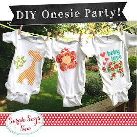 Have guests make a onesie for baby at baby shower instead of games