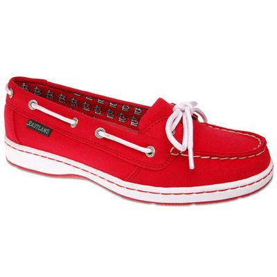 Women's St. Louis Cardinals Eastland Red Sunset Boat Shoes