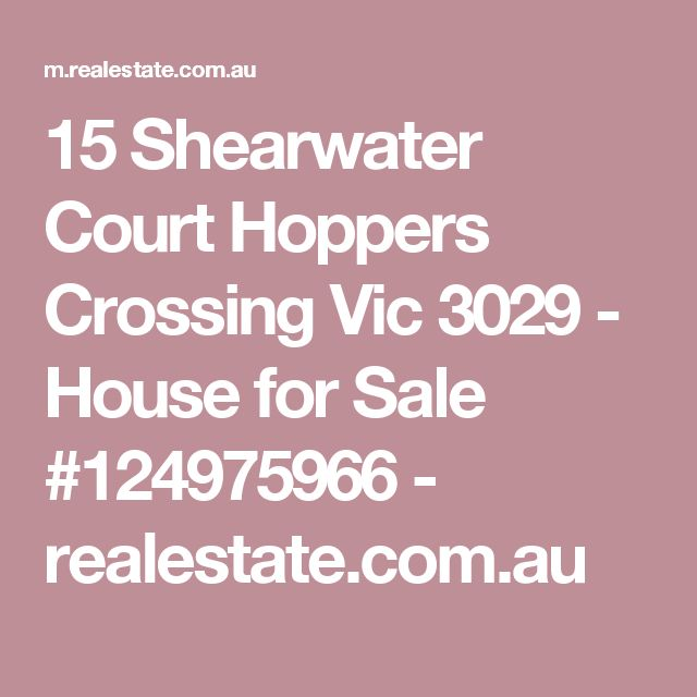 15 Shearwater Court Hoppers Crossing Vic 3029 - House for Sale #124975966 - realestate.com.au