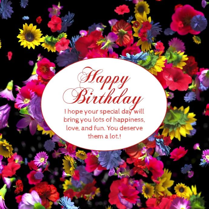 Happy Birthday Wishes Greeting Video Flowers Birthday Wishes Greetings Birthday Wishes Birthday Wishes Messages