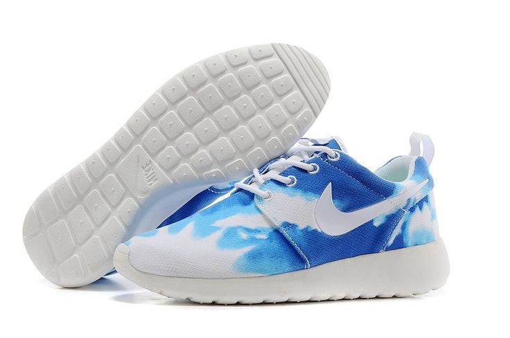 Brand New Authentic Nike Roshe Run Custom Wolf Grey Floral which features a  Floral Swoosh design* perfect for any time of the year and sure to