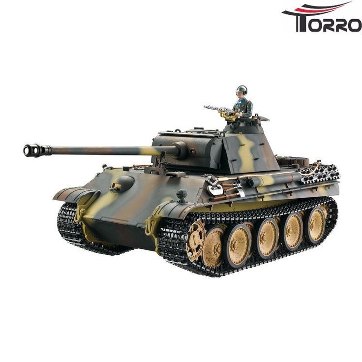 Panther G Profi-Edition BB Brun Camouflage - RC Kampvogn