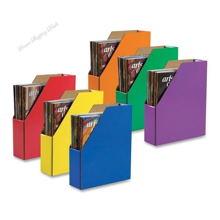 6 Pack Magazine Holders File Holder Organize Files Student Book Boxes Storage  #MagazineHolders