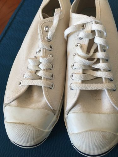 a5f2aca94ba92f VTG Made in USA Converse Jack Purcell Men s Sz 9 White Minimal Trainers