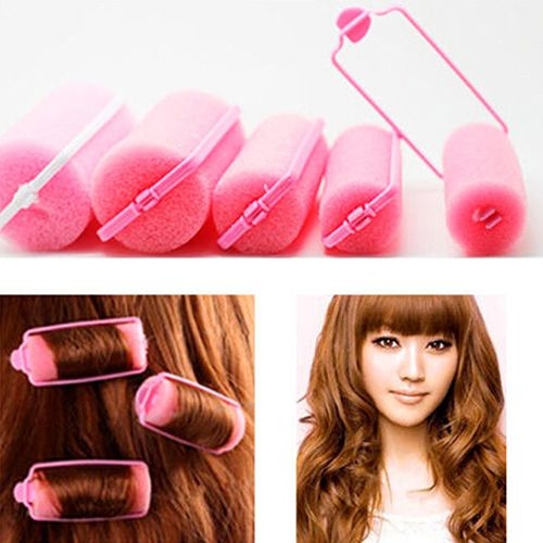 High Quality 2015 Hot 6Pcs Fashion Magic Sponge Foam Hair Curlers Curling Styling Rollers Twist Tool  66NF ADFT