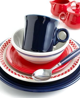 Homer Laughlin dinnerware- Fiesta ware!
