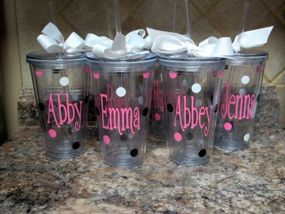 This is a 16oz acrylic double wall tumbler personalized any way you choose. These make great gifts for any occasion. You pick the font and the