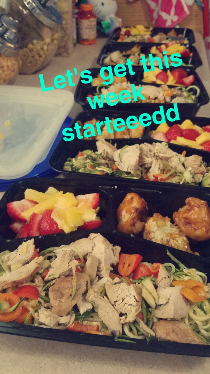 Thought I'd share my meal prep excuse the Snapchat text