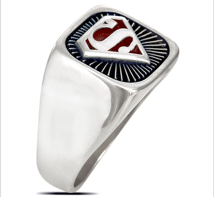 3431 SOLID STERLING SILVER .925 SUPERMAN RING