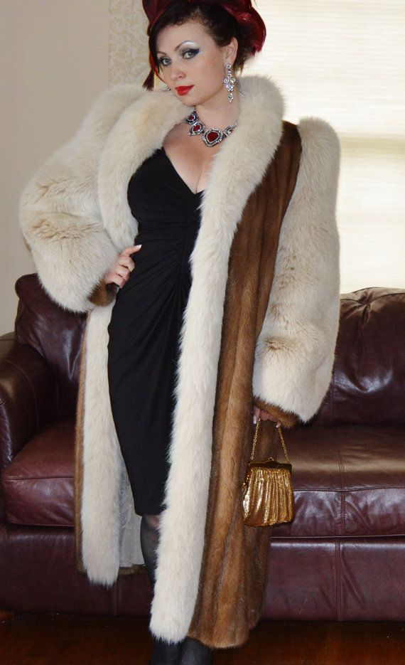 VTG Whiskey Brown Mink with Ivory Genuine by vintageveronique ...