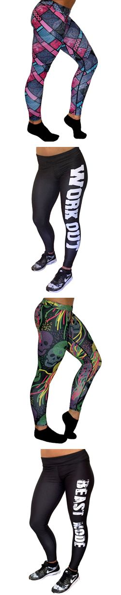 Cute Workout Leggings - Gym Pants - Fitness Leggings - Leggings For Running