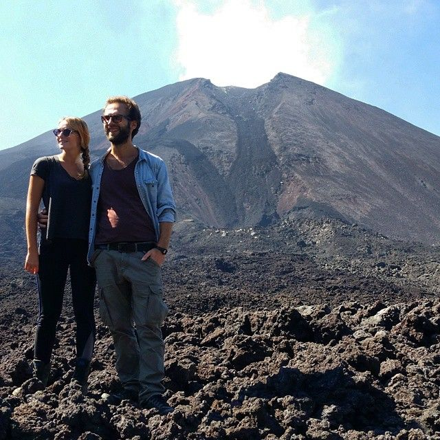There are some days we feel like the luckiest people in the world: perfect weather at Pacaya volcano, happy to be together, travelling the world...just a perfect day! #love #travel #happy #enjoy #couple #pacaya #volcano #noclouds #lucky #bestmoment #grateful #guatemala #joy #blessed #antiguaguatemala #lava #explore #trip #hike #voyage #instapic #moment #together #fun #AVDL