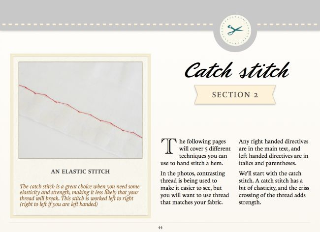 Sign up for your free copy of The Colette Guide to Sewing Hems!   Coletterie