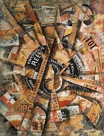 Carlo Carrà, Interventionist Demonstration (Patriotic Holiday-Freeword Painting) (Manifestazione interventista [Festa patriottica-dipinto pa...